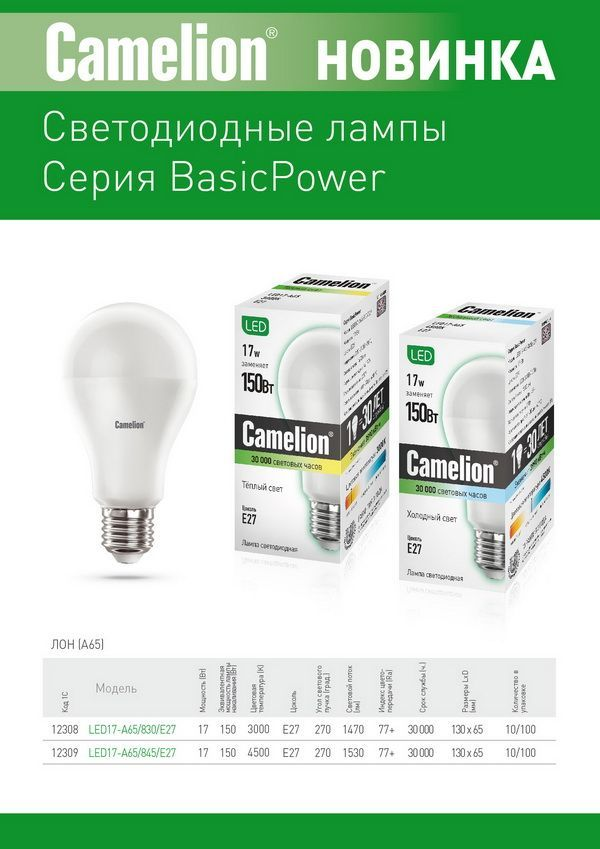 Новинки Camelion LED BasicPower.jpg